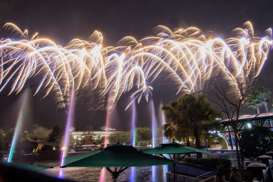 Fireworks Night Pyrotechnics Long Exposure Illuminated Water Motion Arts Culture And Entertainment Low Angle View Event Outdoors Sky Built Structure Celebration No People Architecture Water