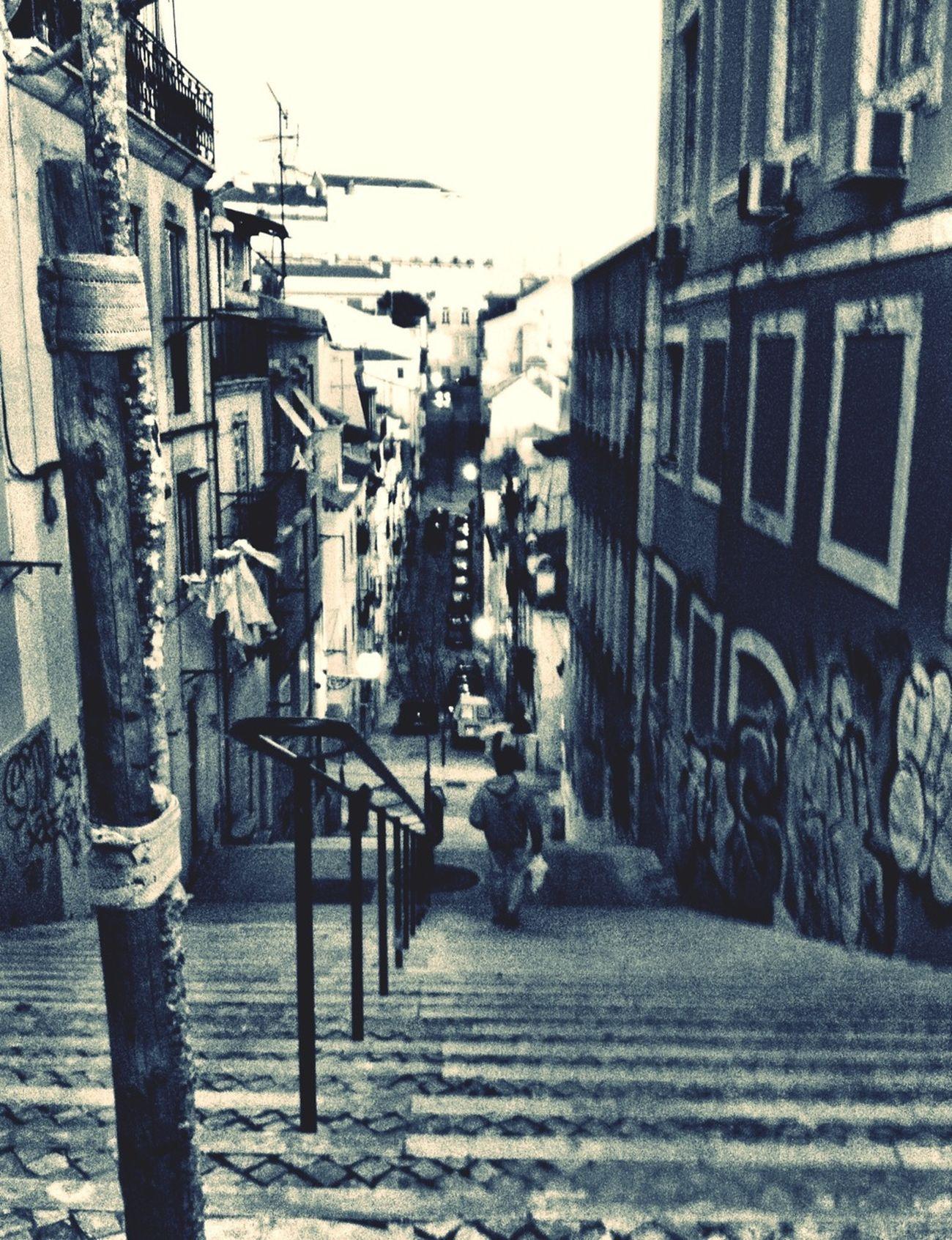 Downside Up Stairs Lisboa Streetphoto_bw Portugaloteuolhar