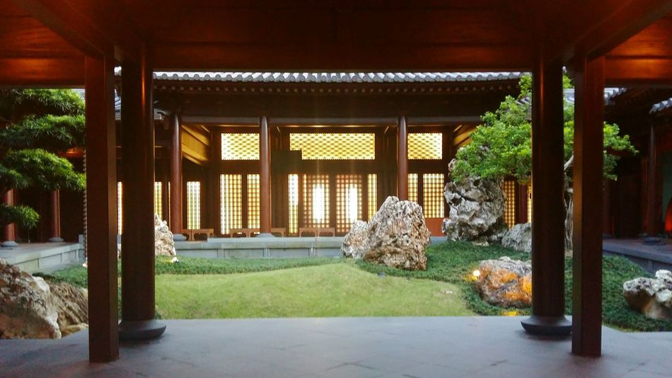 Architecture Architectural Column Built Structure Outdoors Tree Stone Grassland Brown Chinese Building Building Exterior Night Plants Bright Warm - 南蓮園池 Hong Kong
