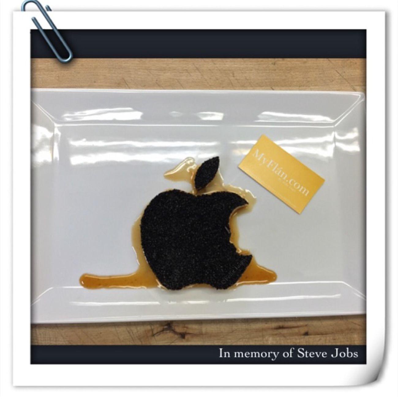Stevejobs Applelogo Apple Myflan Pudim Flan Pastry Desserts Food Dessert