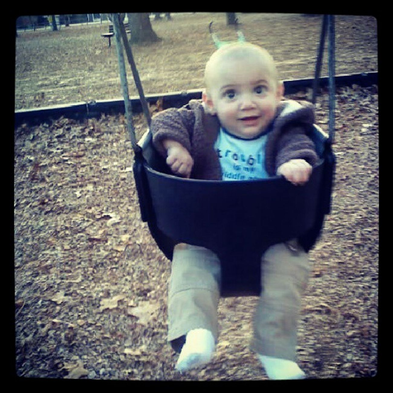 Baldybean Mommasboy Happyjack First time swings love