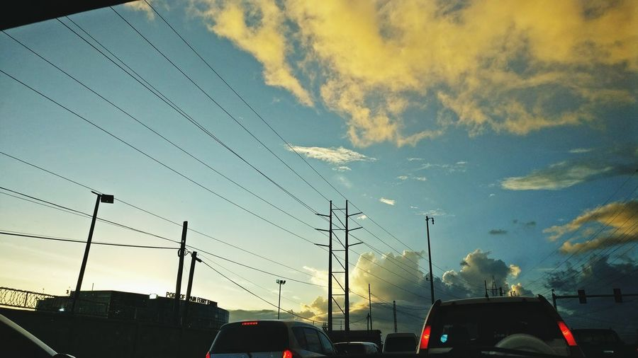 Traveling Home For The Holidays Transportation Sunset Car Mode Of Transport Sky Dramatic Sky Cloud - Sky Outdoors No People Built Structure Day Port Of Spain