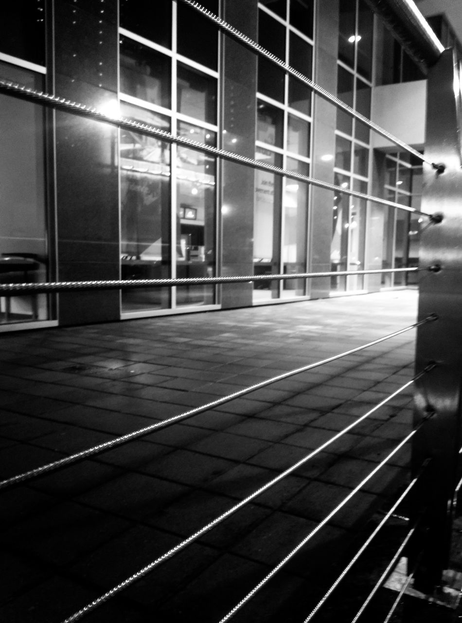 Architecture Built Structure Modern Night Illuminated No People City Building Exterior Indoors  Urban Exploration Black And White Photography Outdoors Sidewalk Photograhy Office Building