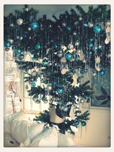 Upside down Christmas tree. Cool right?