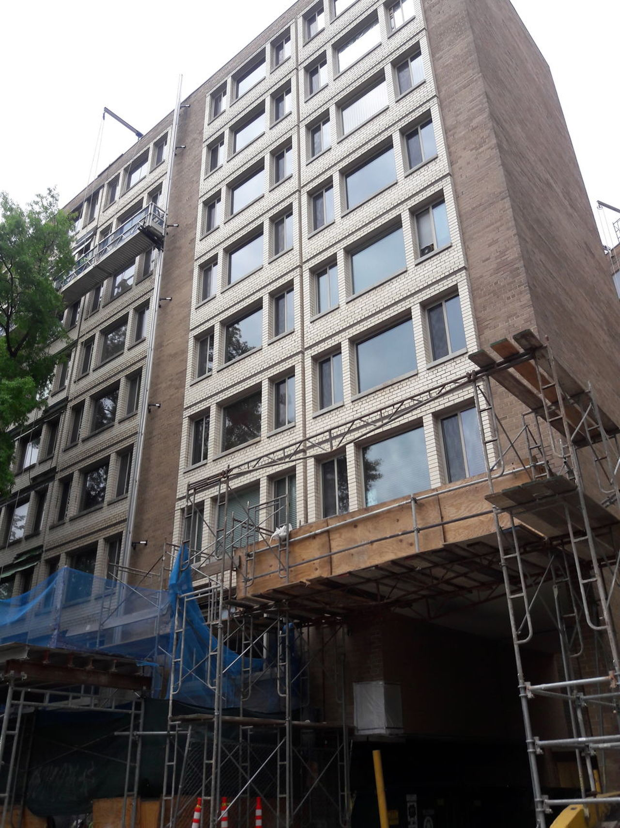 Architecture Building Exterior construction Built Structure Low Angle View Day No People Outdoors apartment City, Scaffolding