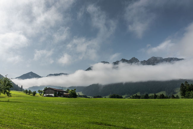 Beauty In Nature Cloud Cloud - Sky Cloudy Day Grassy Hiking Idyllic Landscape Mountain Mountain Range Outdoors Rural Scene Sky Tirol  Tranquil Scene Weather