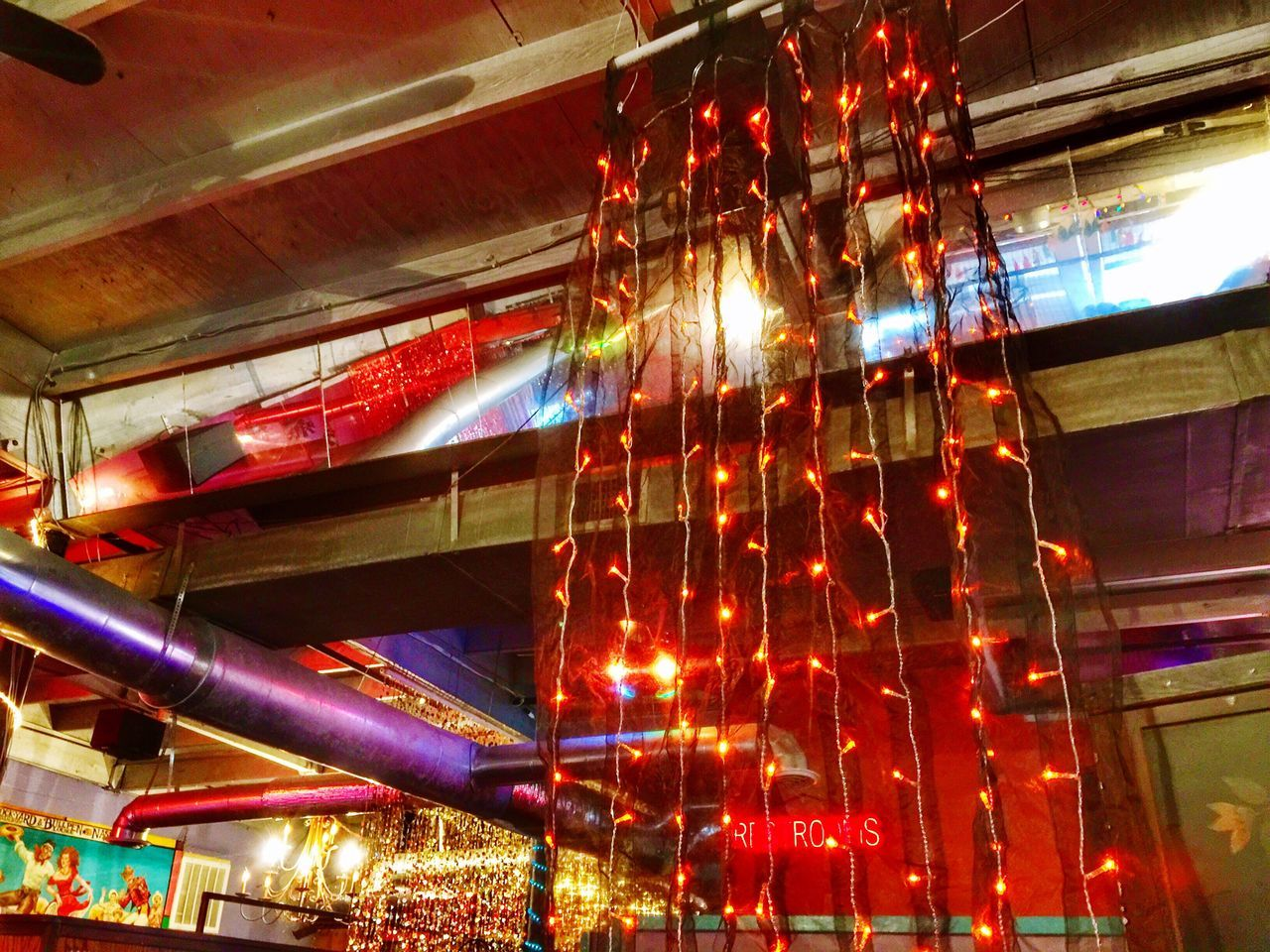 New Years lunch at Rose Pepper's Cantina Traveling Home For The Holidays Nashville Restaurant Illuminated Low Angle View No People Indoors  Holidays Christmas Lights Christmas Decoration Architectural Feature Architectural Detail EyeEm Best Shots Interior Design