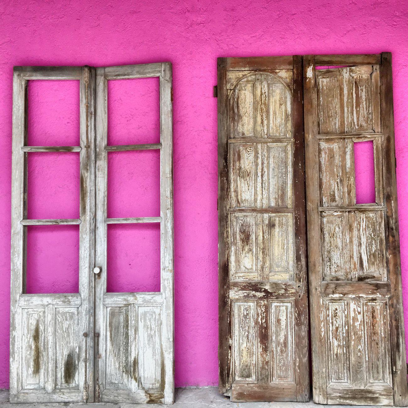 Doors Rustic Door Architecture Colors Pink IPhoneography