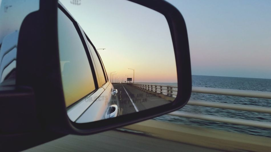 On the way home from Virginia 27miles Morning Sky Beautiful Day Horizon Clear Sky Sky Zone Moments 5 O'clock Rearview Mirror Rear View Perfection Enjoying Life Relaxing Missing You Classy Life Journey LongWaysFromHome Beachislife Enjoying Life Lifeisgood