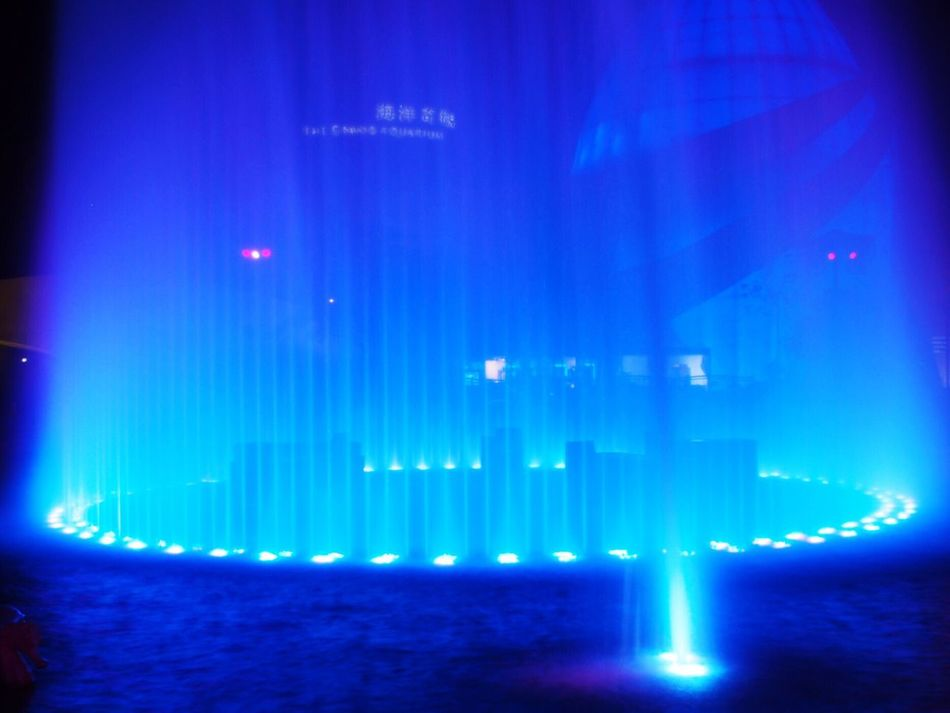 Blue Water Sea Night No People Illuminated Nature Outdoors Sky Oceanpark Architecture City Southern
