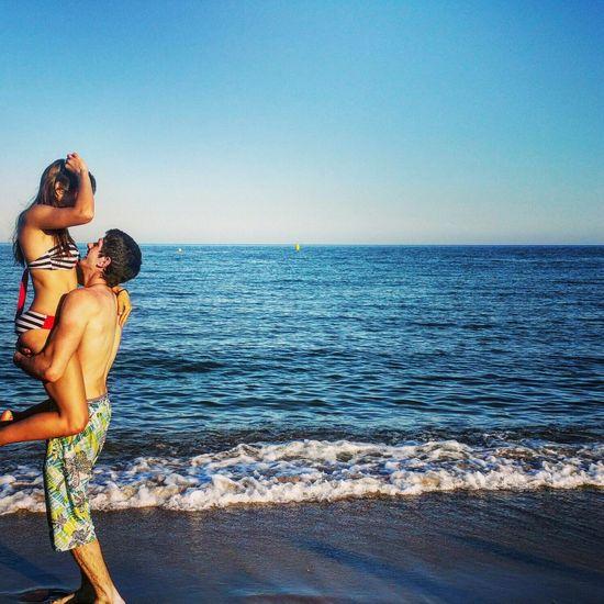Peñíscola playa beach Playa Vacations People Love Besos😘 Kiss Sea Horizon Over Water Clear Sky Summer Water Beach Outdoors EyeEmNewHere Let's Go. Together. Wine Not EyeEm Selects EyeEm LOST IN London