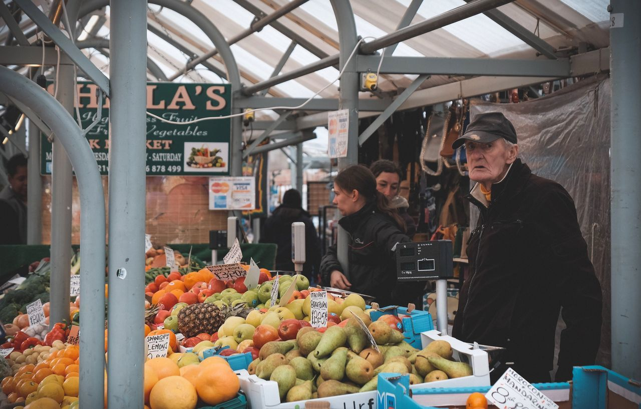 Market Market Oldman Freshness Fruit Vegetable Small Business Market Stall