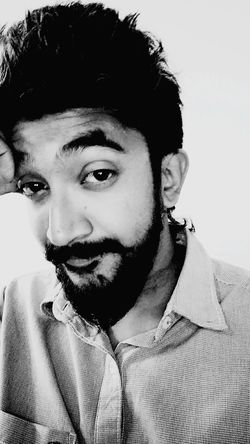 EyeEm Selects Beardedmen Bangaloretimes Only Men One Man Only Black Hair One Person Adults Only Adult Front View Mustache Headshot Beard Handsome Studio Shot Mid Adult People Young Adult Real People Portrait Indoors  Men White Background