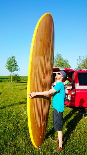 Surf's Up Hanging Out That's Me Enjoying Life Love My Board Handmade Wooden Sup Sun Seventysevenbrds Holiday Sun Summertime Happyness Bright Colors Bulli Baltic Sea Germany Blue Wave The Essence Of Summer People Of The Oceans 43GoldenMoments My Year My View Done That.
