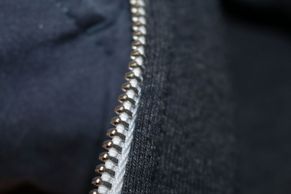 Close-up Cloth Clothes Clothing Fabric Lifestyle Zip Zipper