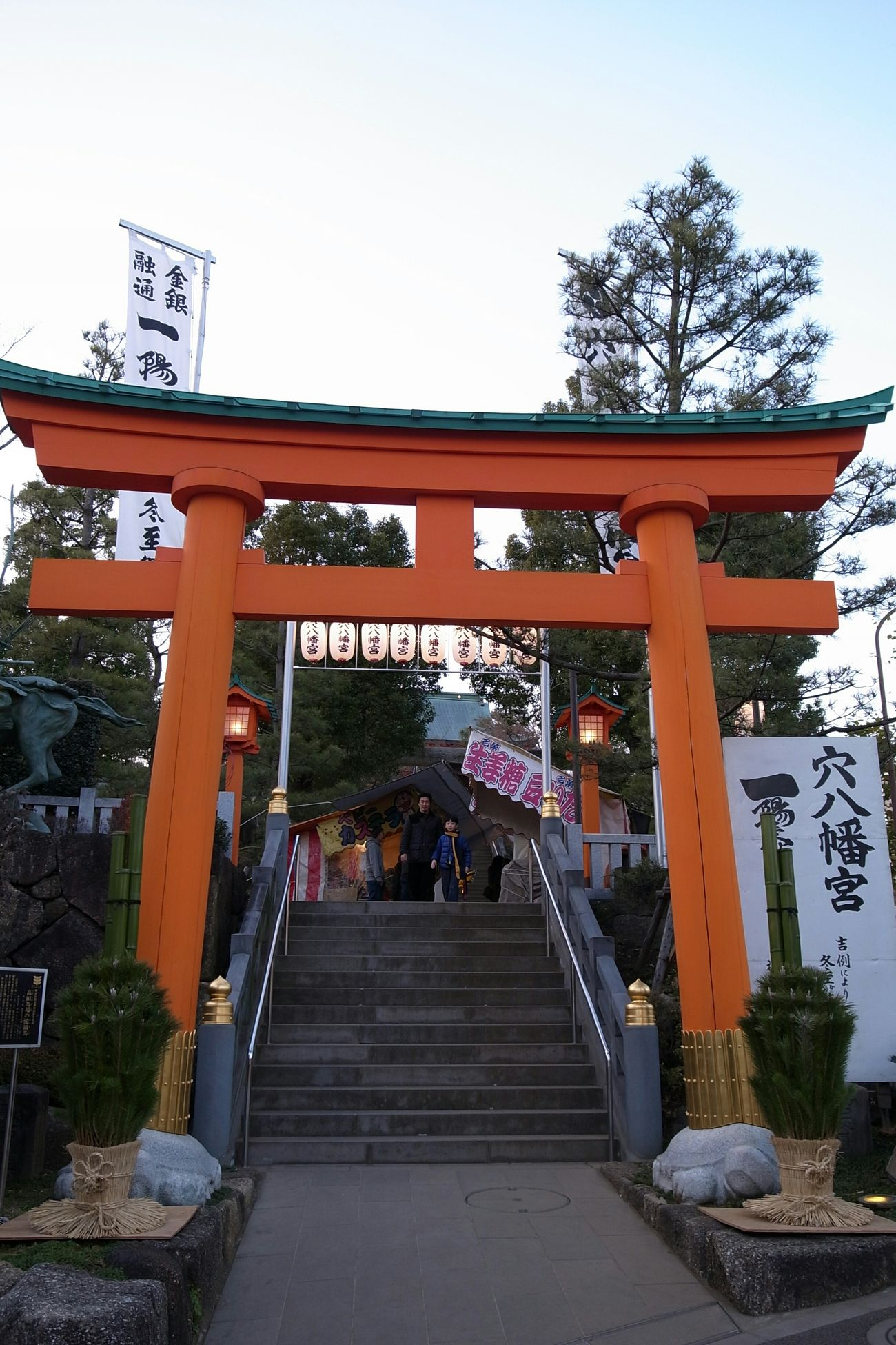 Japanese Shrine TORII Landscape Sunday Evening New Year Traditional Ricoh GRD III びっくりするほど立派な神社でした!