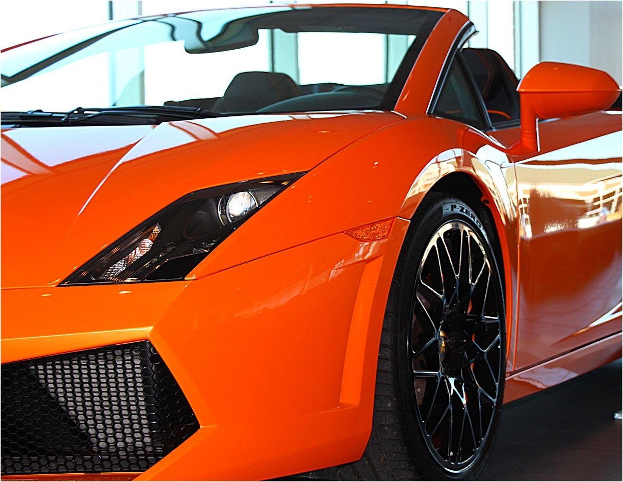 Car Porn Convertible Convertible Car Lamborgini  Orange Car