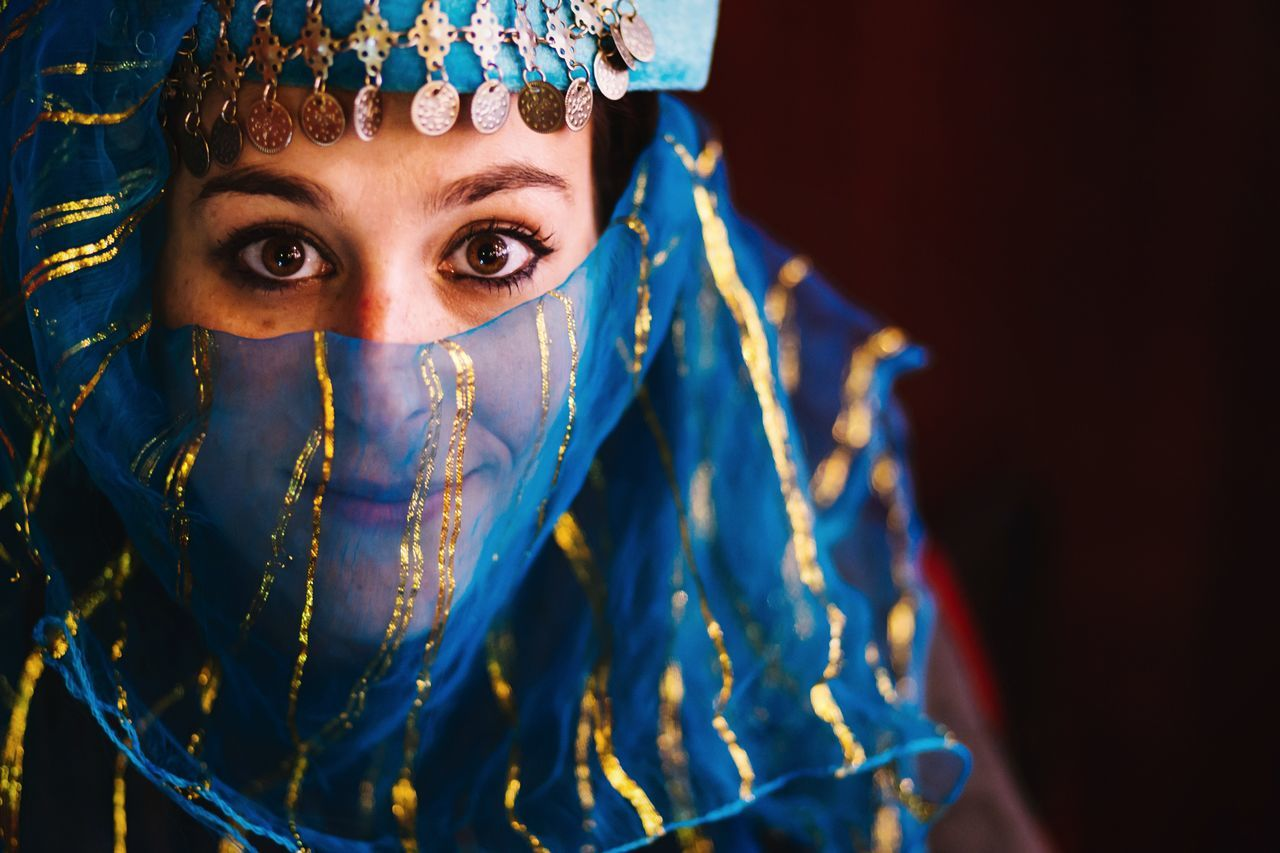 Beautiful stock photos of spain, Beautiful Woman, Blue, Brown Eyes, Covering