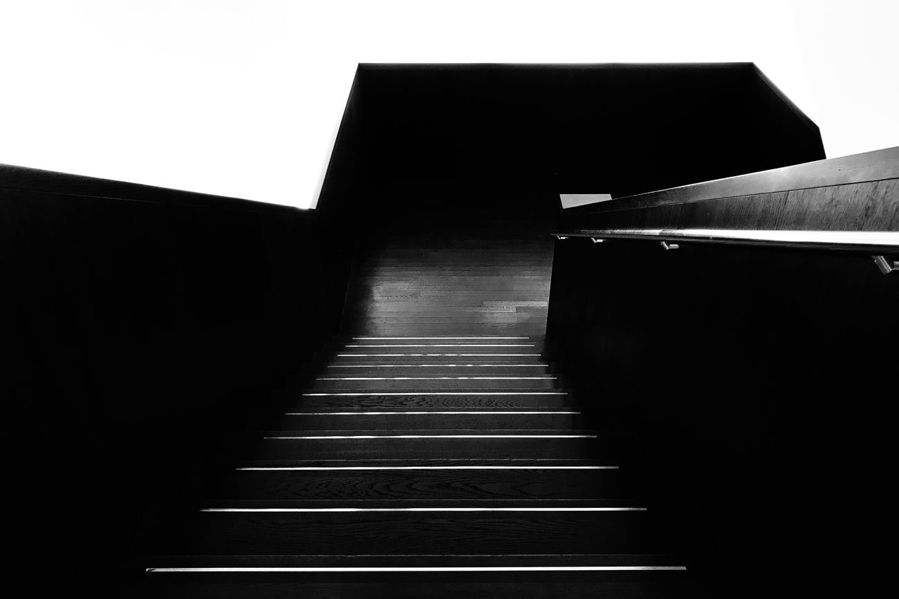 Architecture Black & White Black And White Blackandwhite Built Structure Day Indoors  Minimalism No People Staircase Steps Steps And Staircases