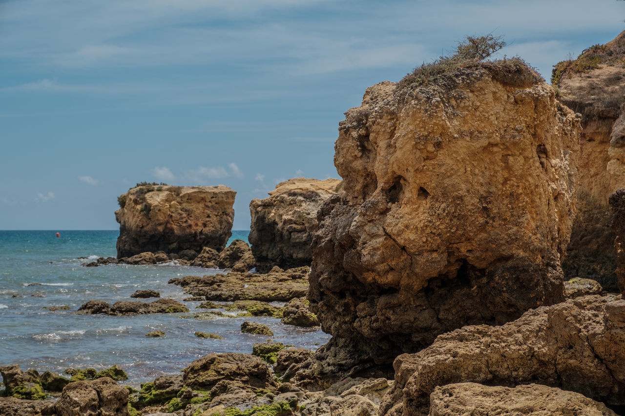 Algarve, Portugal Beach Beauty In Nature Day Horizon Over Water Nature No People Outdoors Rock Formation Scenics Sea Tranquility Water