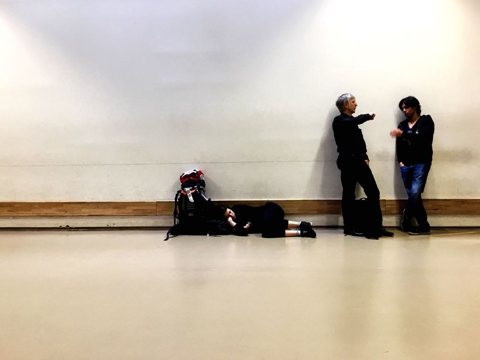 Waiting at the airport. Real People Togetherness Indoors  People Waiting Traveling Travelling Travel Photography Airport Waiting Airport Berlin Sleeping Sleep Traveller Backpacking Standing People Photography