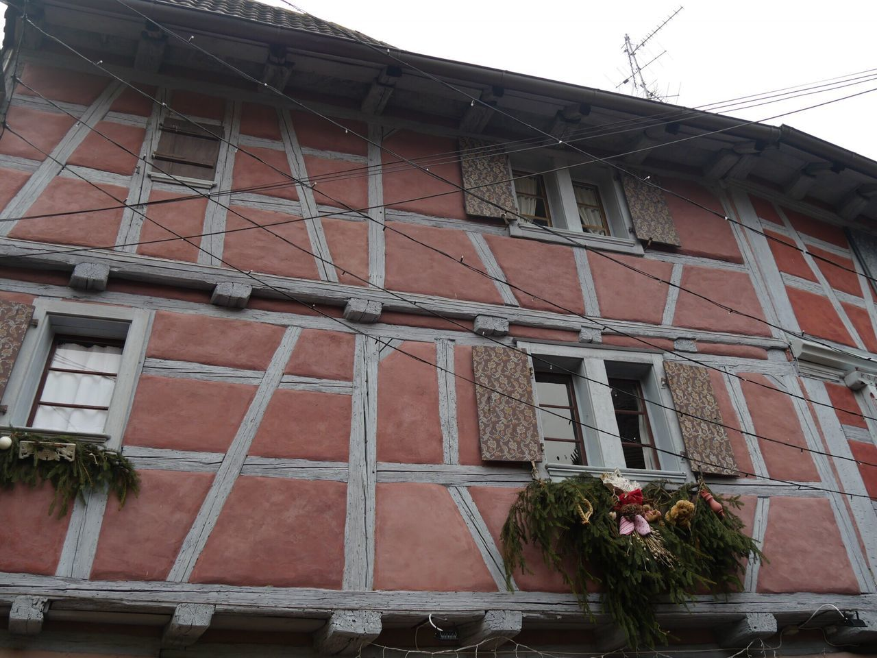 Eguisheim Alsace France Half-timbered House Building Exterior Low Angle View Architecture Window Built Structure No People Outdoors Day