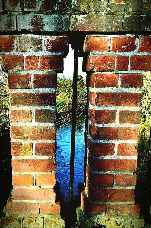 Brick Work Pillars Brick Bridge Bridge Pillar Bridge Over Water Bridge View Sunny Day In The Park Looking Through River River View United Kingdom Nikon D3200