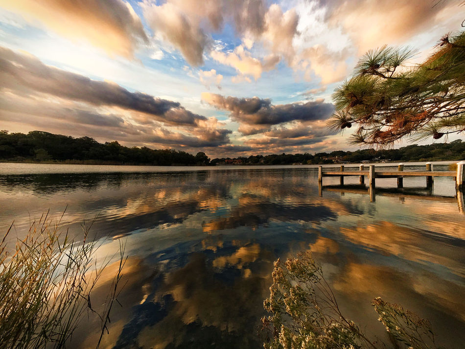 Beauty In Nature Cloud - Sky Day Lake Mountain Nature No People Outdoors Reflection Scenics Sky Sunset Tranquil Scene Tranquility Tree Water