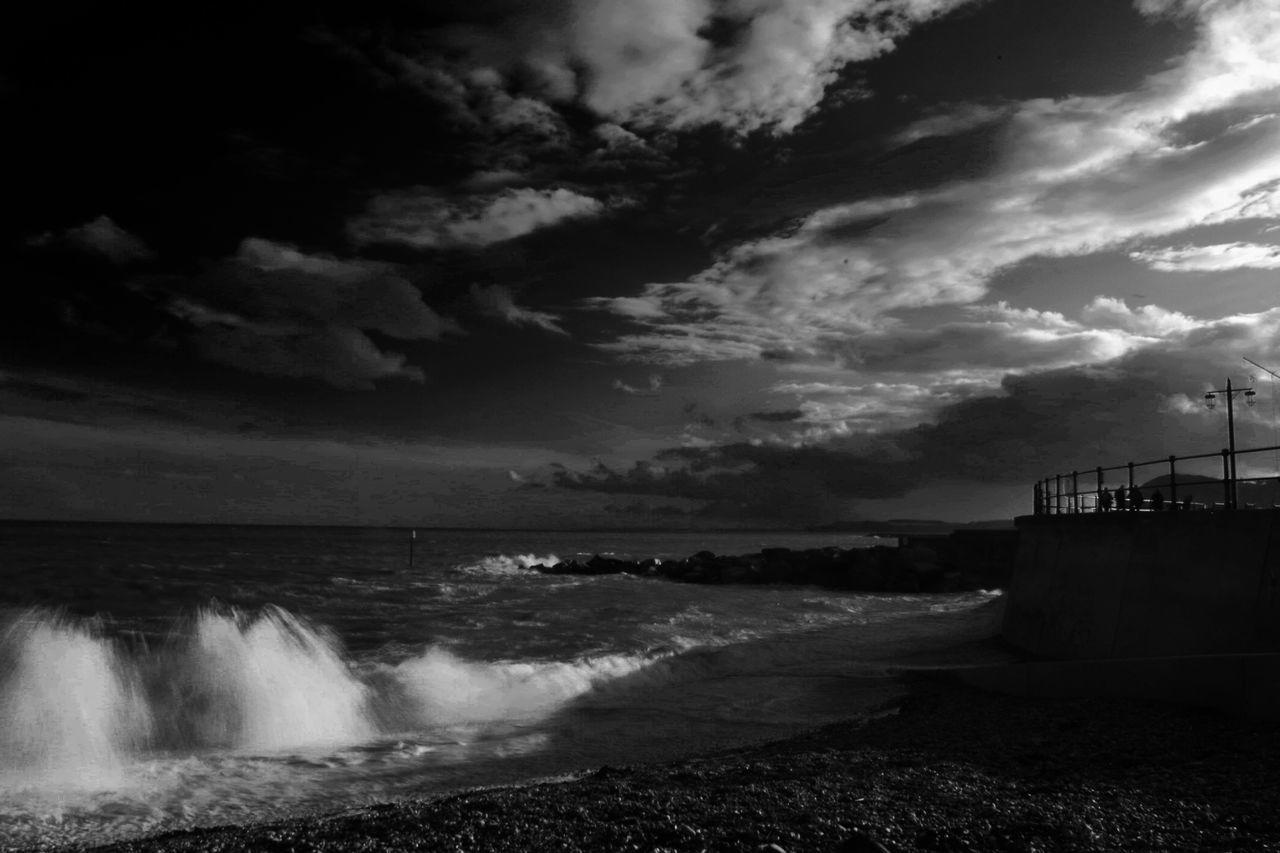 Sea Against Cloudy Sky