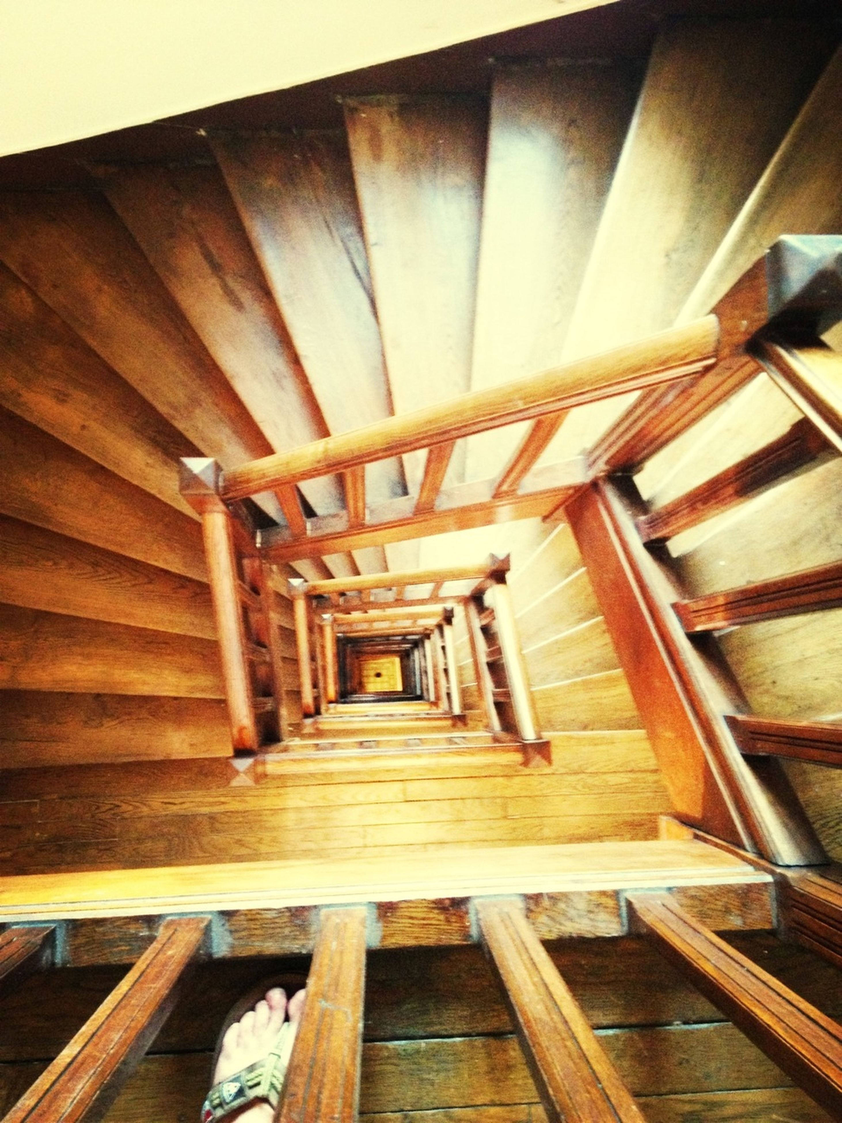 built structure, architecture, steps, wood - material, steps and staircases, staircase, railing, low angle view, indoors, ceiling, wooden, building exterior, wood, old, the way forward, no people, day, stairs, house, sunlight