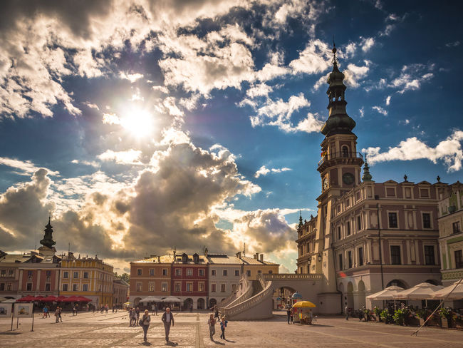 Architecture Building Exterior Built Structure City City Life Cloud Cloud - Sky Cloudy Day HDR Old Town Outdoors Poland Sky Sunlight Tourism Town Hall Town Square Travel Destinations