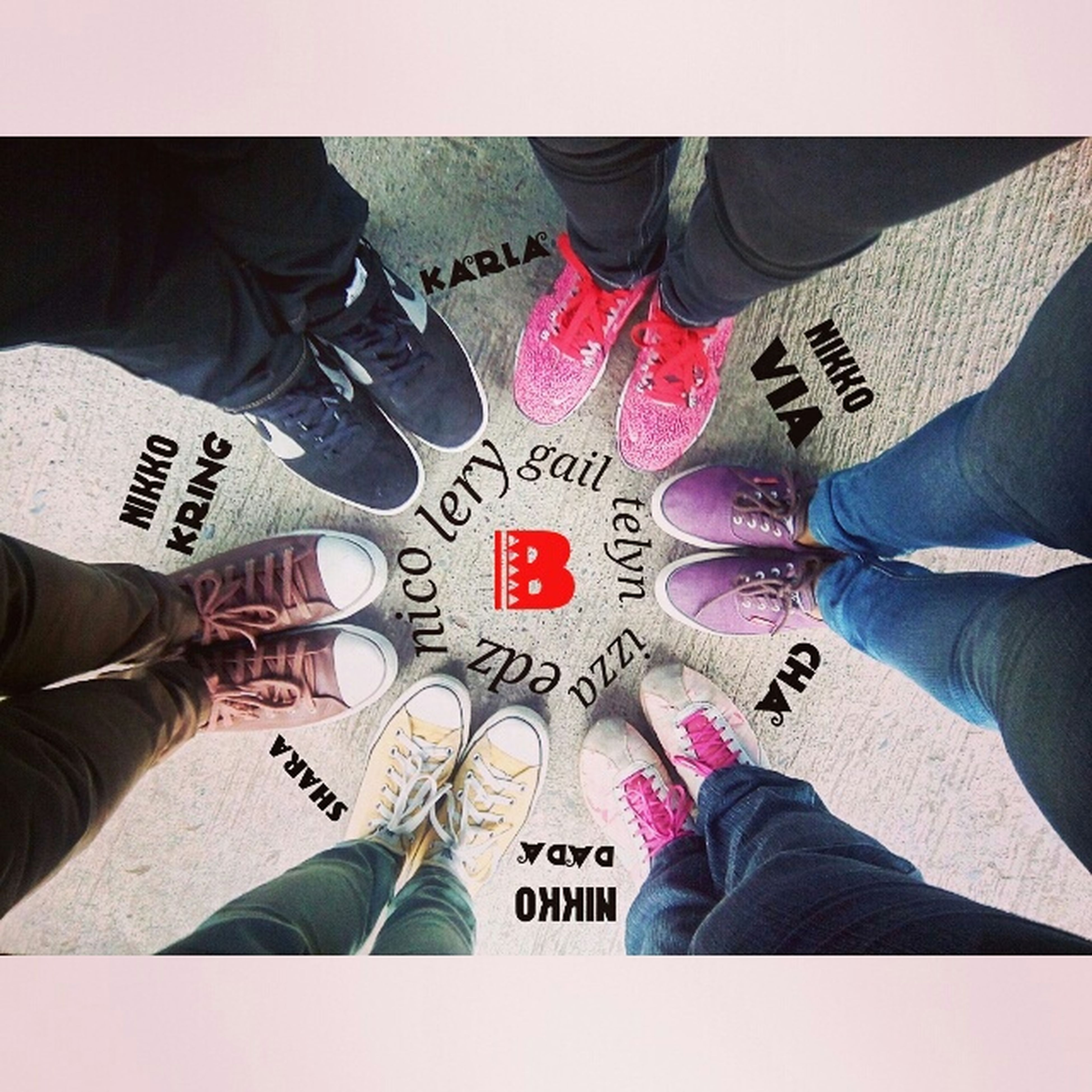 low section, person, shoe, lifestyles, personal perspective, men, human foot, standing, leisure activity, jeans, footwear, high angle view, togetherness, canvas shoe, directly above, human limb