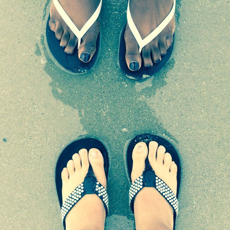 My Favorite Photo That's Me Toes Feet Sand Beach Myrtle Beach SC Bestfriend Complexion Flipflops A Bird's Eye View