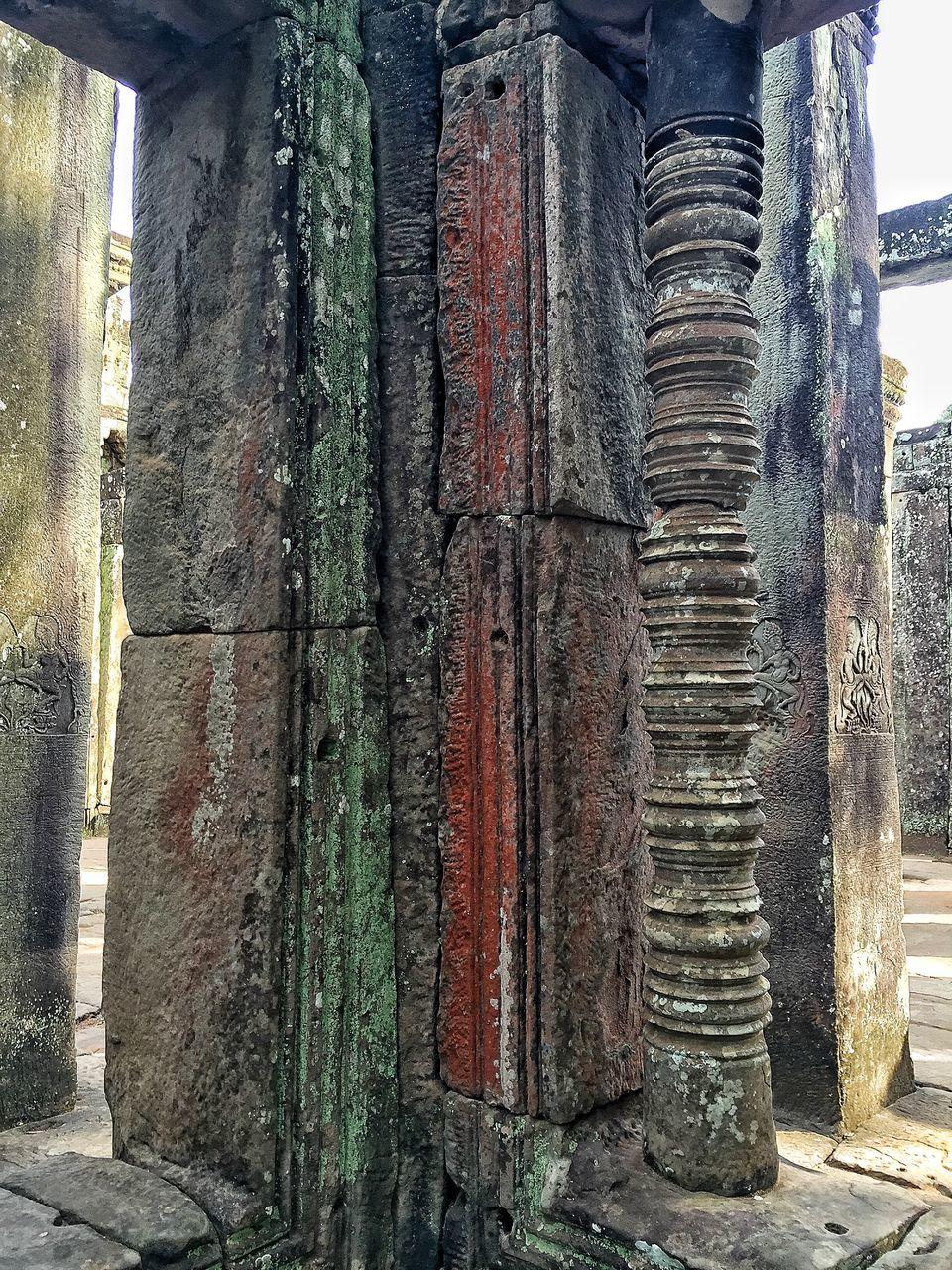 Architectural Columns At Old Ruins
