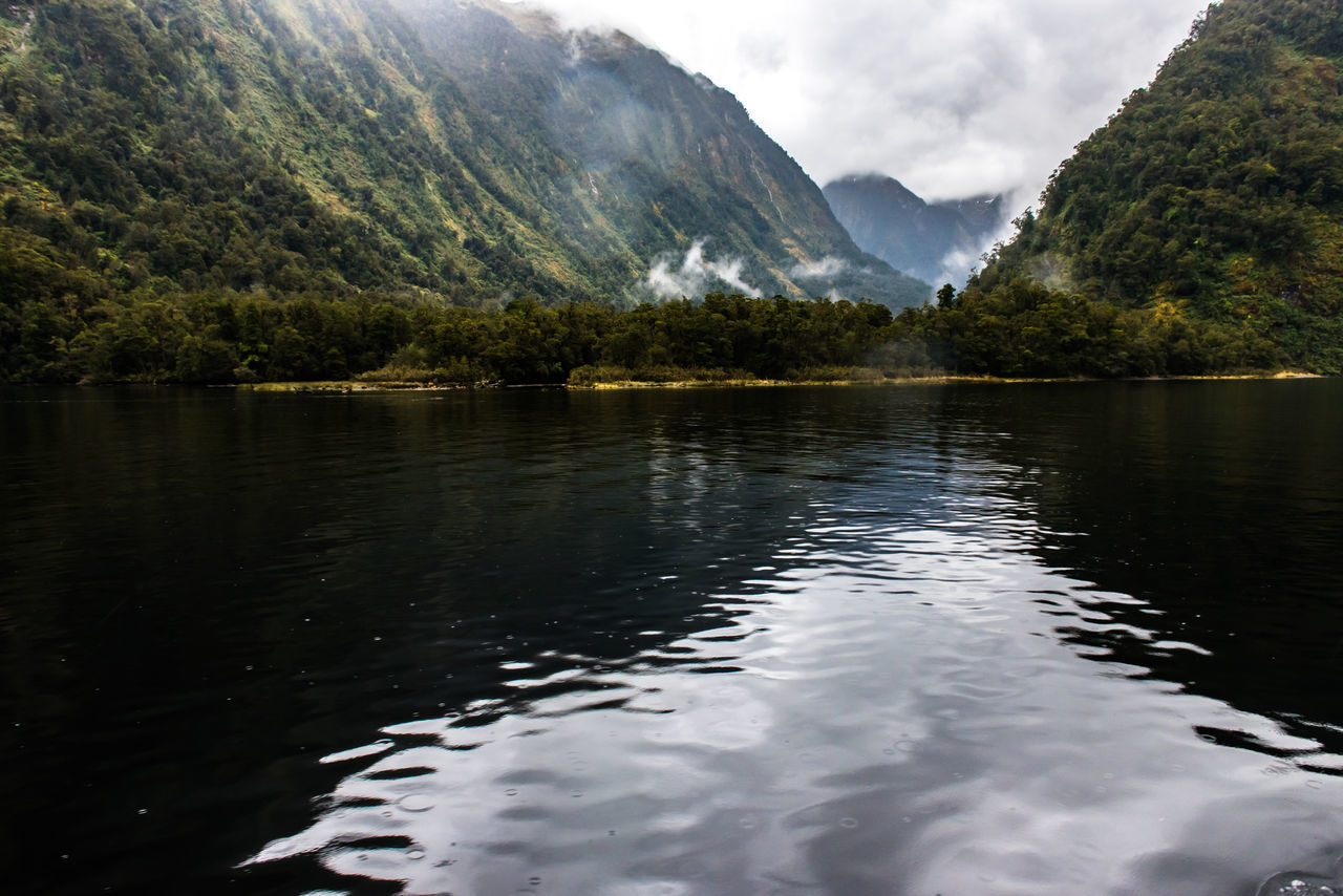 Beauty In Nature Black Color Black Water Dust Lake Landscape Mountain New Zealand Beauty New Zealand Scenery No People Outdoors Reflection Sky Sound Travel Destinations Tree Water EyeEmNewHere The Secret Spaces The Great Outdoors - 2017 EyeEm Awards Neighborhood Map in Manapouri, New Zealand Doubtful Sound