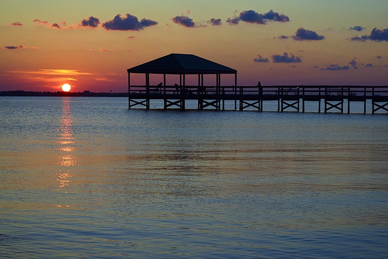 Tonight's Sunset Indialantic, FL Pier Beautiful Sunset My View Sun Going Down Sunrise And Sunsets Taking Pictures Hello World Pier Enjoying The View Nature On Your Doorstep Landscape Nikon D3300 Water Reflections EyeEm Gallery Peace And Quiet Sunset Silhouettes The Essence Of Summer