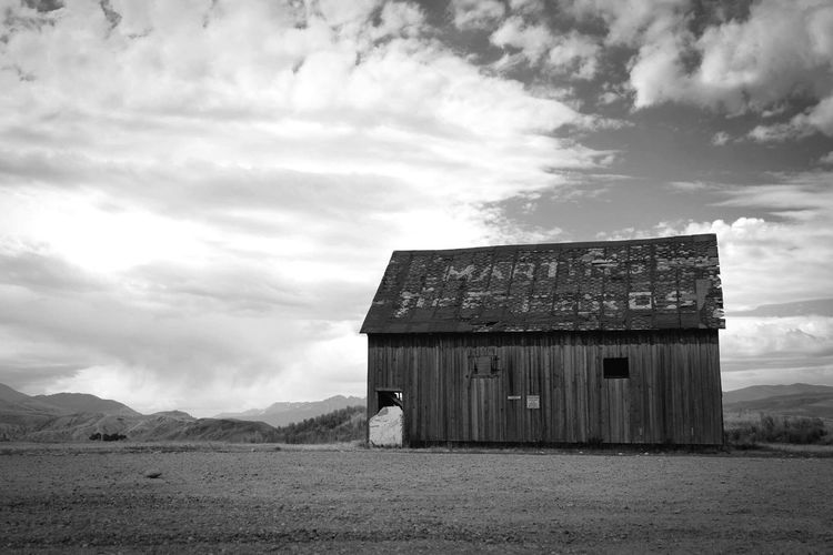 Cloud - Sky Built Structure Abandoned Building Exterior Sky Landscape Barn blackandwhite
