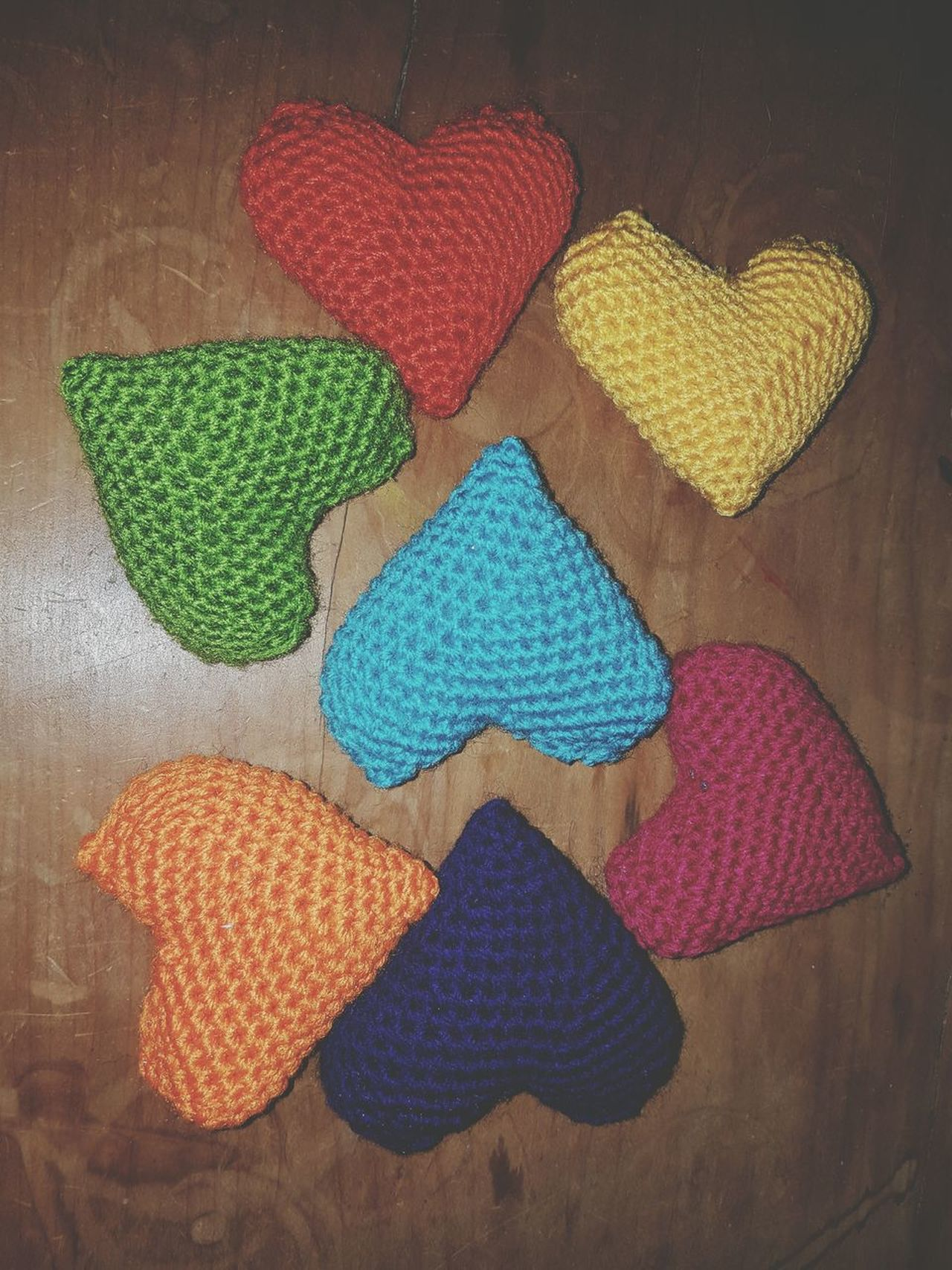 I love to crochet...thank goodness for the people who make the patterns 😍 Multi Colored Indoors  No People Close-up Art Is Everywhere Creating Passion Craft Hometown Homemade Crochet First Eyeem Photo Phone Photography Hobbyphotography Homemade With Love Rainbow Hearts