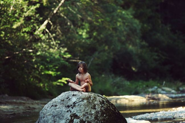 Child Meditation Kid Kids Kids Are Awesome Boy Calm Calmness Spirituality Spiritual Spiritual Awakening Sitting Rock - Object Nature Water Beauty In Nature Relaxation River Harmony Outdoors Social Issues Rock Trees Conciousness  EyeEmNewHere Resist The Secret Spaces Long Goodbye Art Is Everywhere Break The Mold The Portraitist - 2017 EyeEm Awards The Great Outdoors - 2017 EyeEm Awards Live For The Story BYOPaper! Sommergefühle Breathing Space Be. Ready.