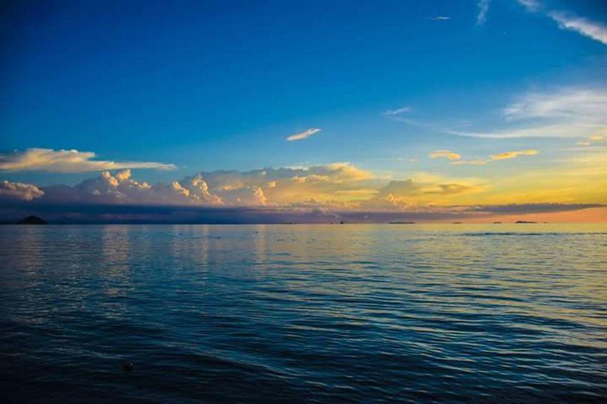 Samui Thailand Sunset Sky And Clouds Sea Sea And Sky