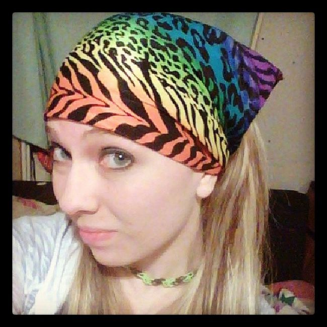 Selfie Chainsmokers Bandana Neoncolors zebraprint leopardprint saturdaynight timeforfun