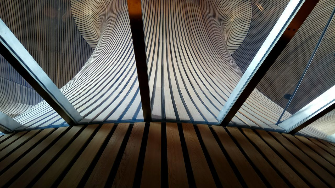 EyeEm Selects Architecture Wales Welsh Parlament Wood Wooden Ceiling Pattern Full Frame Modern Architectural Design Roof Built Structure