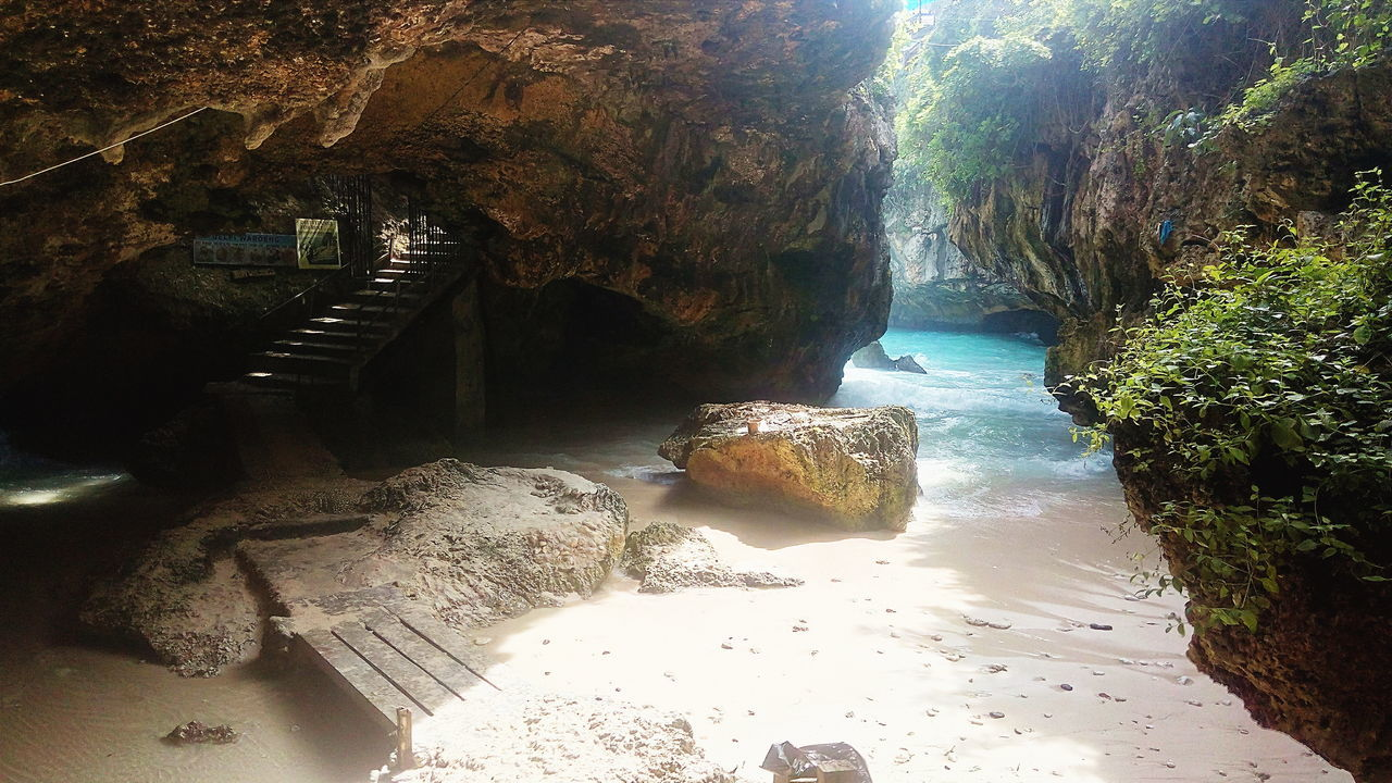 Hidden caves. Adventure Club Beach Beauty Blue Cave Hidden Idilic Nature Ocean Outdoors Sand Scenics Shore Steps Sunlight Sunny Tranquility Water