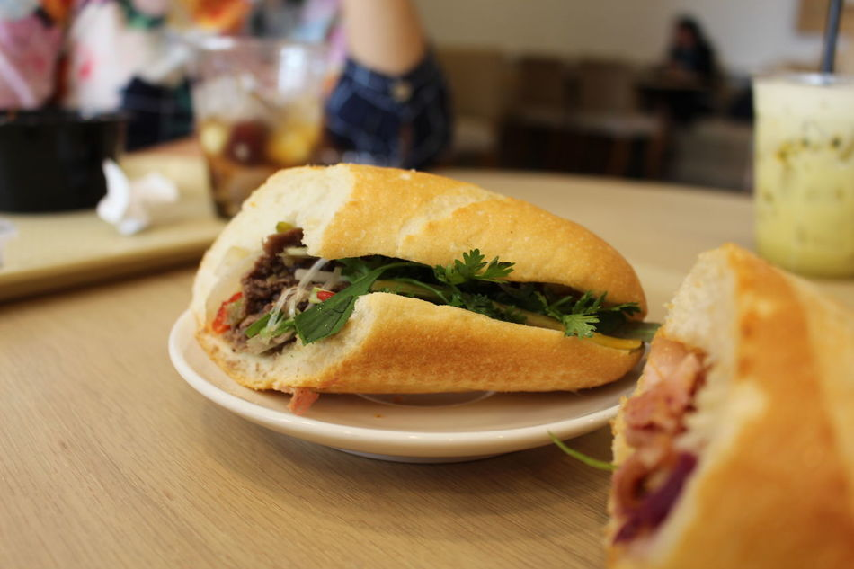 Adult Adults Only Banhmi Banhmisaigon Banhmithit Banhmivietnam Breakfast Close-up Day Food Freshness Hochiminh Food Indoors  One Person One Woman Only Only Women People Ready-to-eat Real People Vietnamfood Vietnamfoodstreet