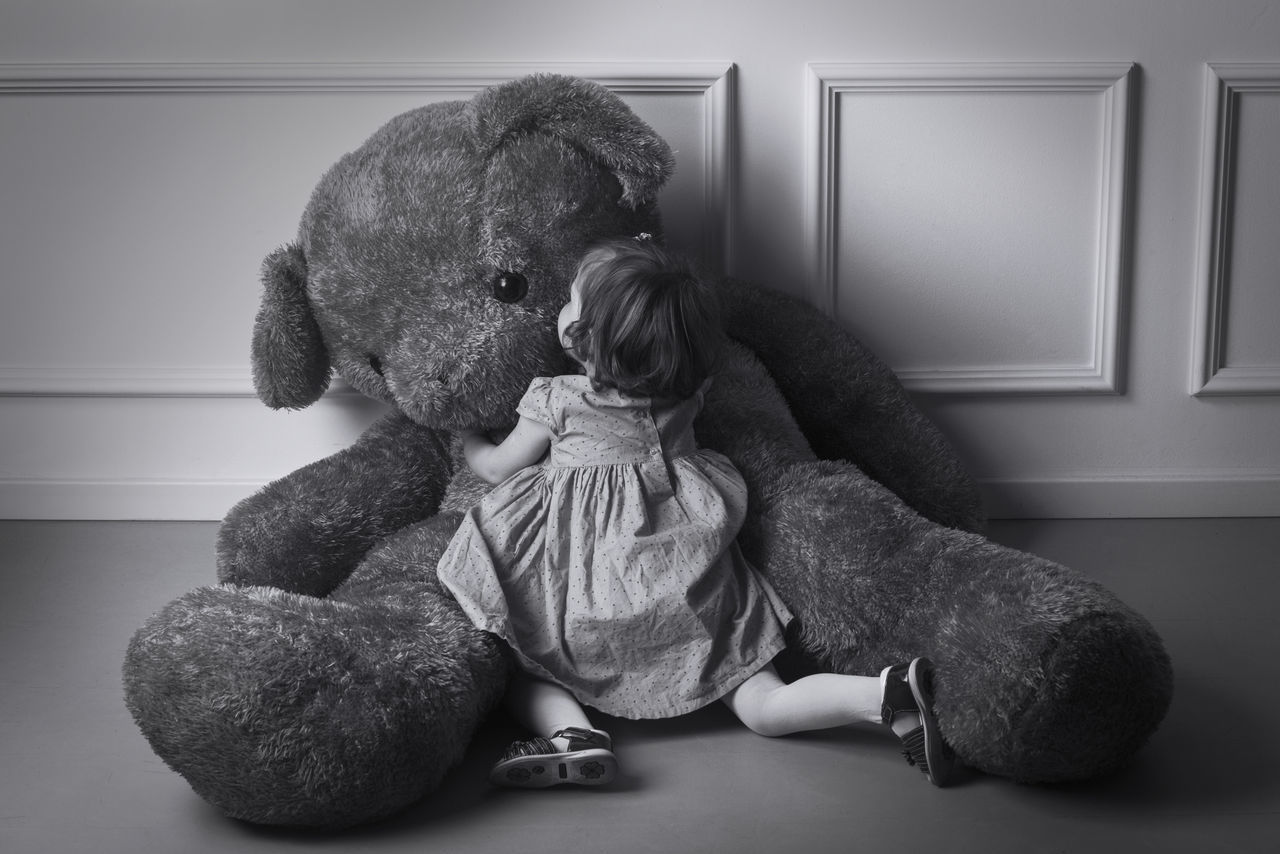 Beautiful stock photos of baer, full length, childhood, stuffed toy, teddy bear