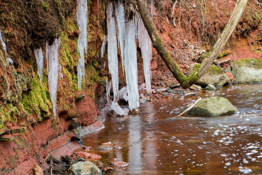 Beauty In Nature Collection EyeEmNewHere Icicles Landscape Latvia Nature River Riverside Rocks Smoll River Spring Stones Water Waterscape