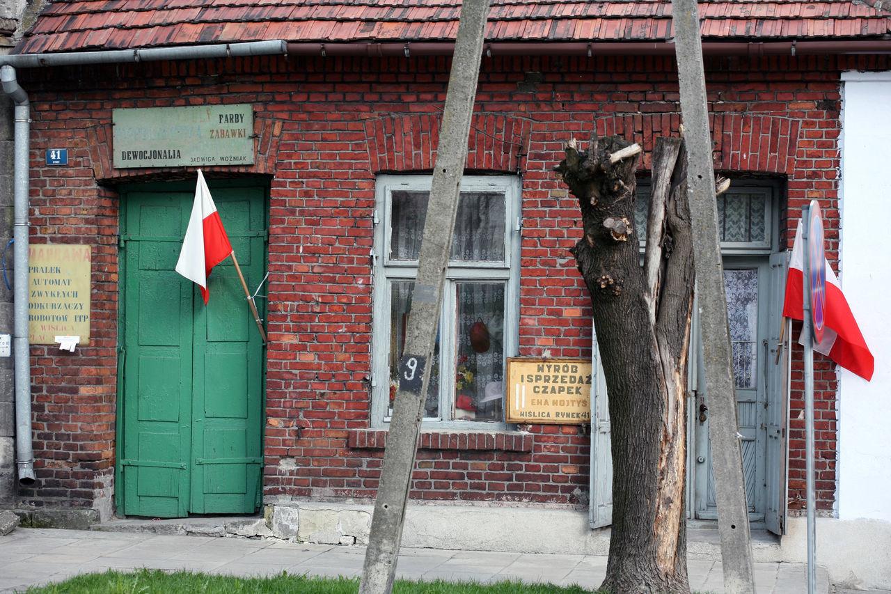 Architecture Door Flag Little Town Old House Old Shop Poland Polen Provincial Window