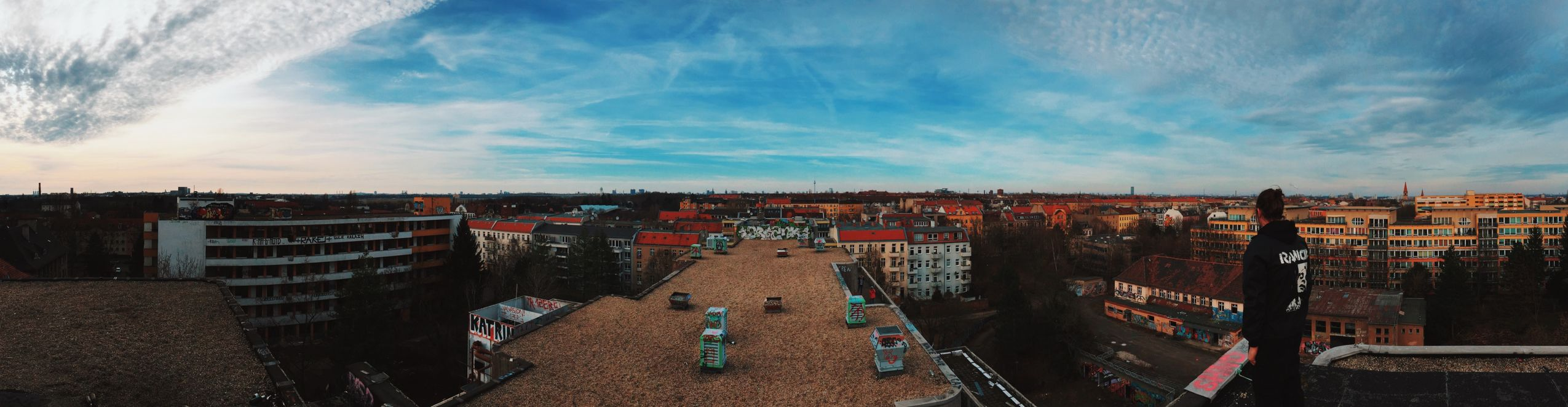 A Panorama from the top of that Abandoned Hospital in Neukölln for Fotostrasse Urbex Urbanexploration