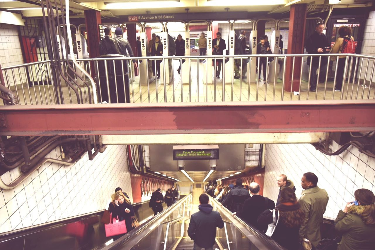 Large Group Of People People Indoors  Architecture Subway Subway Station Subway People Stairs Underground Station  Underground Crowded City Life New York Manhattan Metro Station Urban Photography New York Subway City USA Built Structure Downtown District Travel Adults Only Men