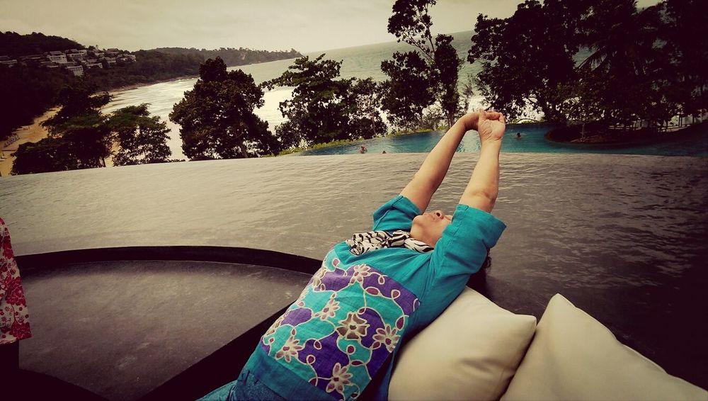 mom's taking her deep breathe out of the Andaman sea. BuggerBKK's Phuket